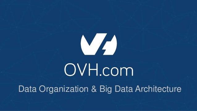 Data Organization & Big Data Architecture