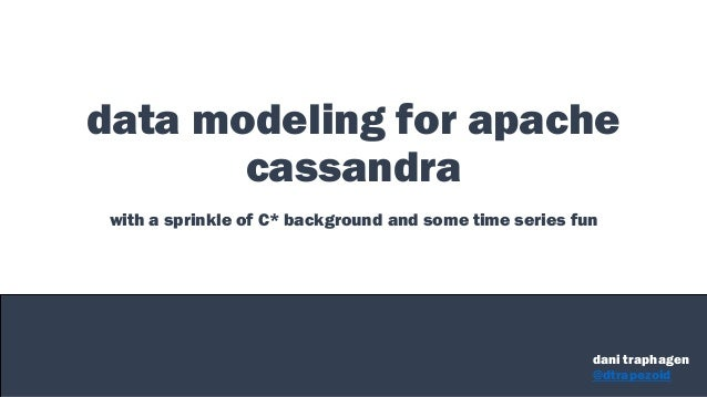 data modeling for apache cassandra with a sprinkle of C* background and some time series fun dani traphagen @dtrapezoid