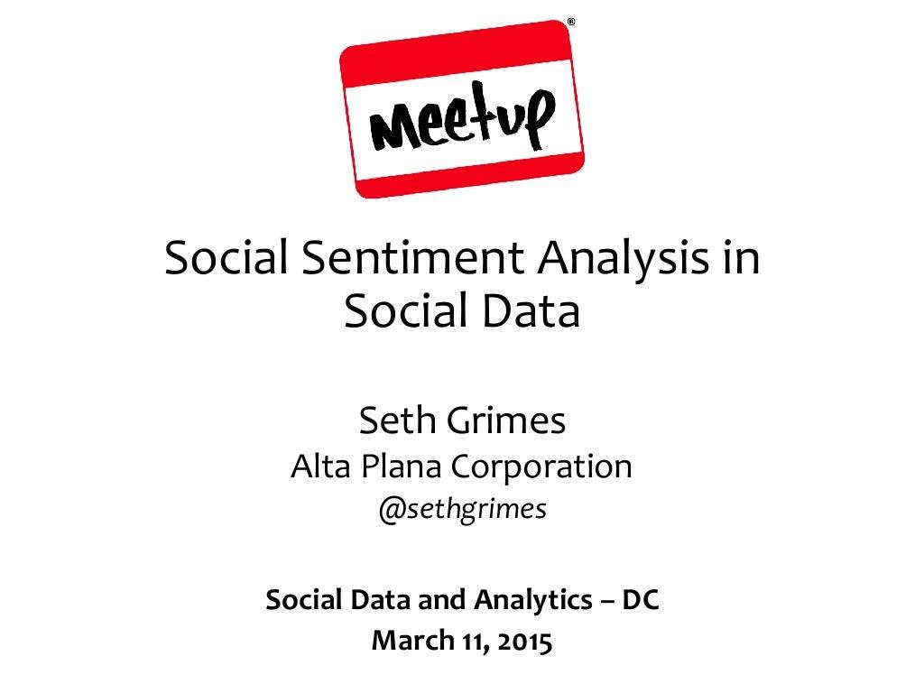Social Data Sentiment Analysis