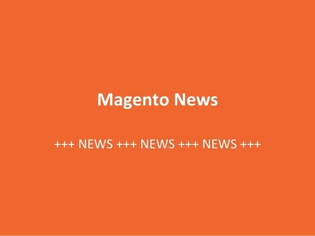 29. Magento Meetup Austria: News