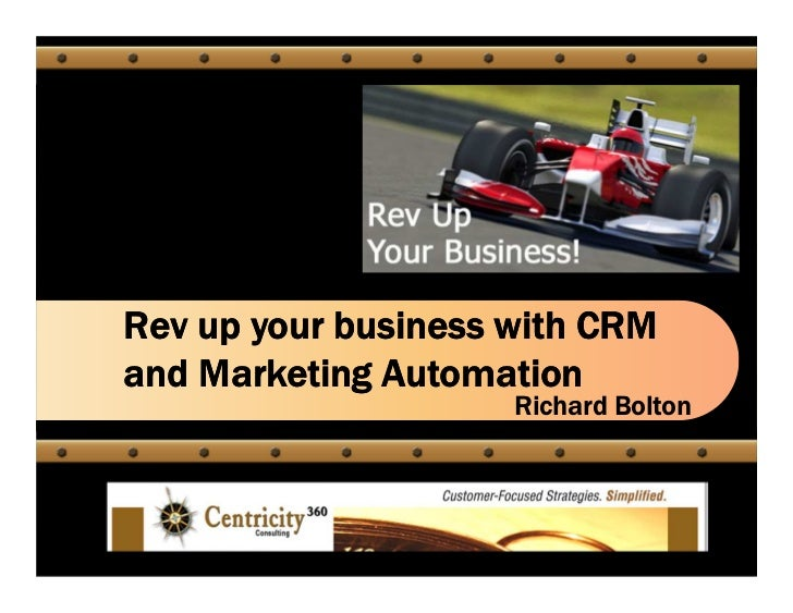 Rev up your business with CRMand Marketing Automation                     Richard Bolton