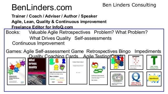 Meetup Agile Self-assessment Game - Budapest 2020 - Ben Linders Slide 3