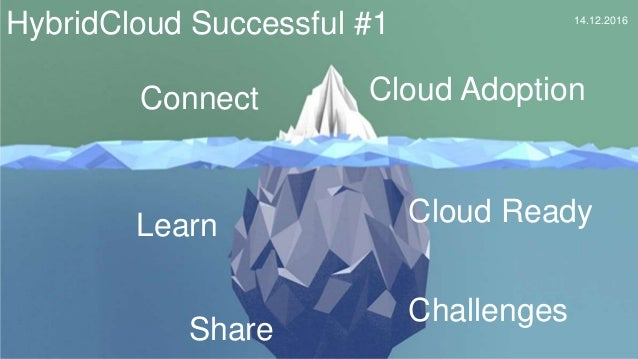 Cloud Adoption Cloud Ready Challenges HybridCloud Successful #1 14.12.2016 Connect Learn Share