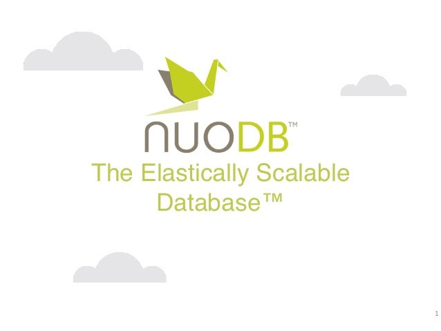 The Elastically Scalable     Database™                           1