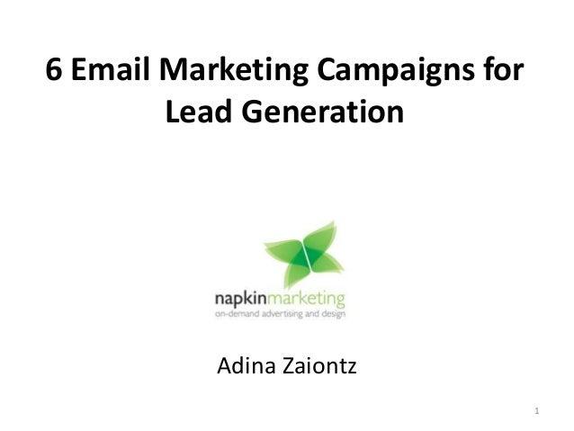 6 Email Marketing Campaigns for Lead Generation  Adina Zaiontz 1