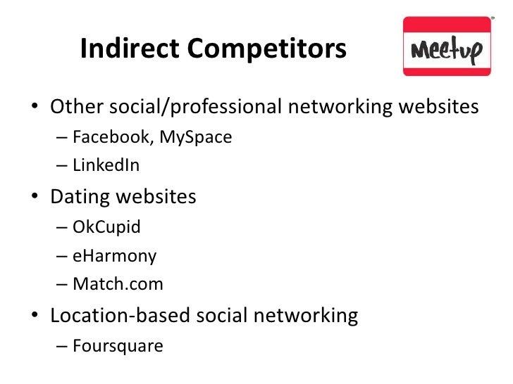 Indirect Competitors<br />Other social/professional networking websites<br />Facebook, MySpace<br />LinkedIn<br />Dating w...