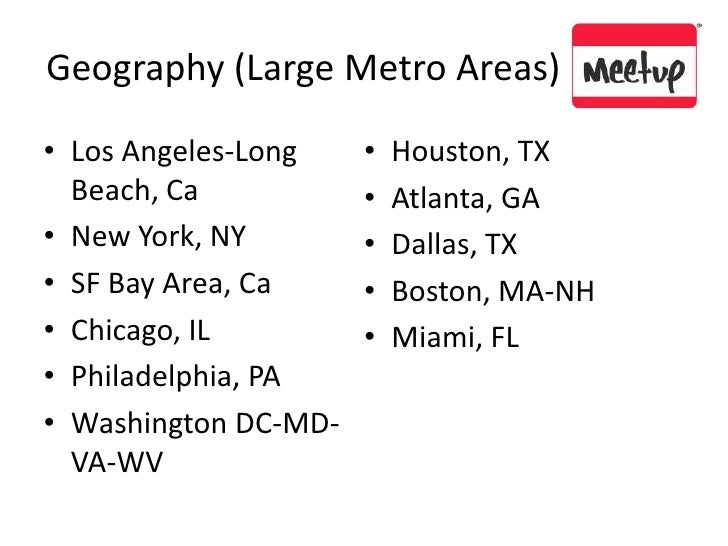 Geography (Large Metro Areas) <br />Los Angeles-Long Beach, Ca<br />New York, NY<br />SF Bay Area, Ca<br />Chicago, IL <br...