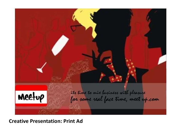 Creative Presentation: Print Ad<br />