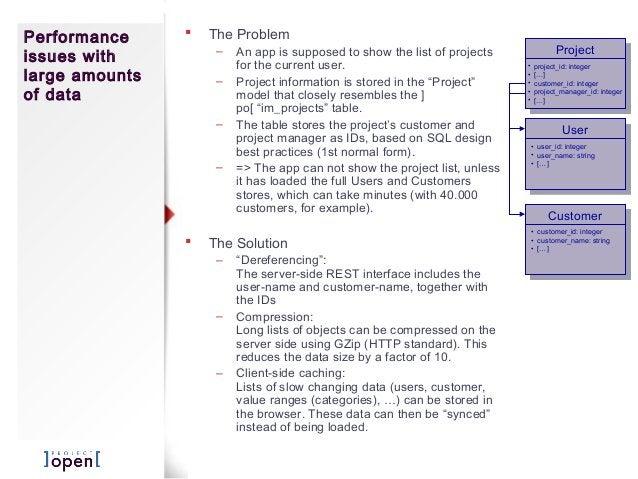  The Problem – An app is supposed to show the list of projects for the current user. – Project information is stored in t...