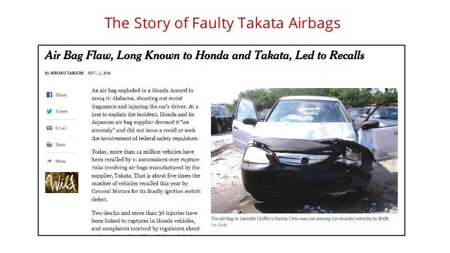 The Story of Faulty Takata Airbags