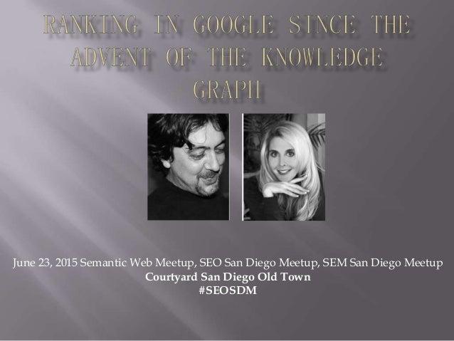 June 23, 2015 Semantic Web Meetup, SEO San Diego Meetup, SEM San Diego Meetup Courtyard San Diego Old Town #SEOSDM