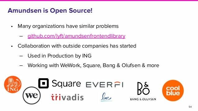 Amundsen is Open Source! • Many organizations have similar problems ‒ github.com/lyft/amundsenfrontendlibrary • Collaborat...