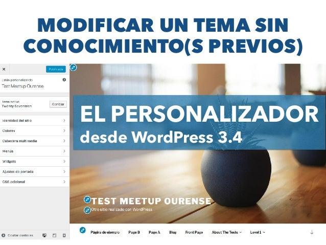 Modifica y crea temas de WordPress - Meetup WP Ourense