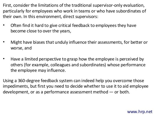 360 degree feedback benefits and pitfalls Kaur s 360 degrees performance appraisal- benefits & shortcoming   kokemuller n advantages & disadvantages of 360 degree feedbackehowcom.