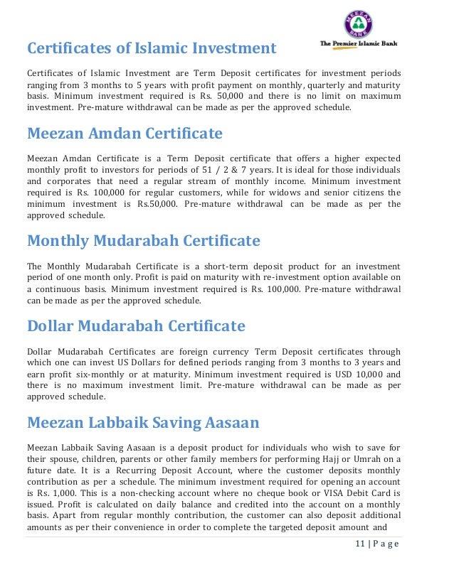 Meezan Report