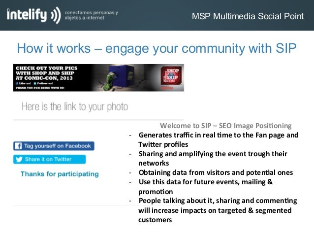 MSP Multimedia Social PointHow it works – engage your community with SIP Welcome to SIP – SEO Image Posi:oni...