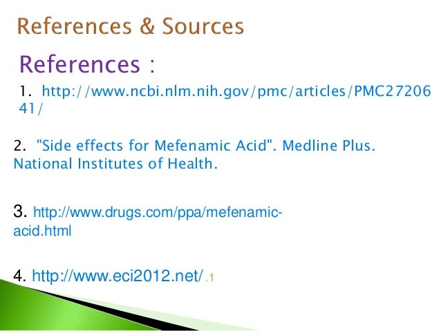 Dolfenal Mefenamic Acid Drug Study