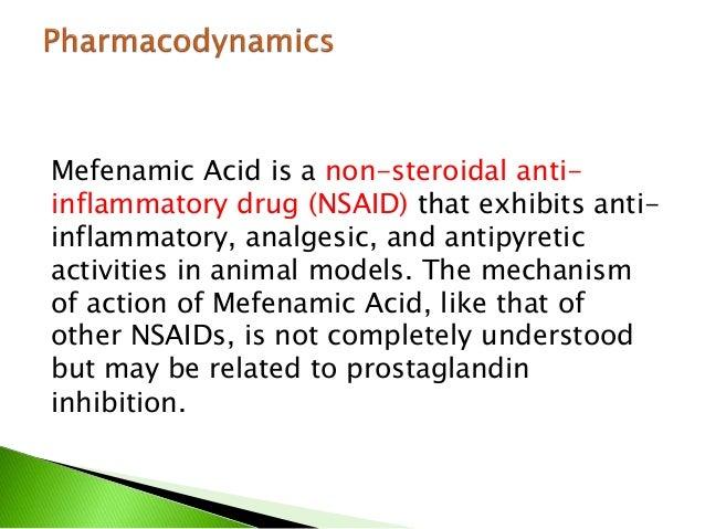 Action Of Mefenamic Acid