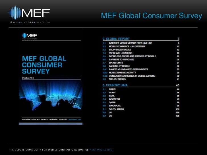 MEF Global Consumer Survey