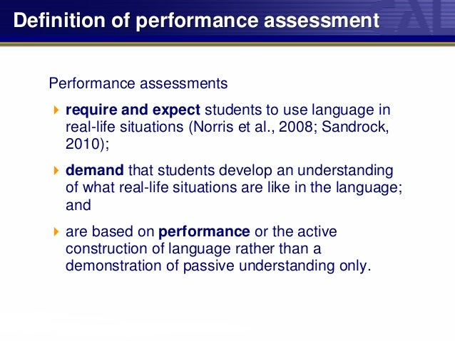 Integrating Performance Assessment Into World Language Learning And T