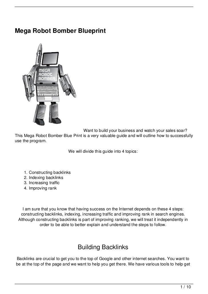 Mega robot bomber blueprint mega robot bomber blueprint want to build your business and malvernweather Images
