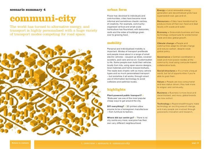 scenario summary 4                                            urban form                                       Energy > Lo...