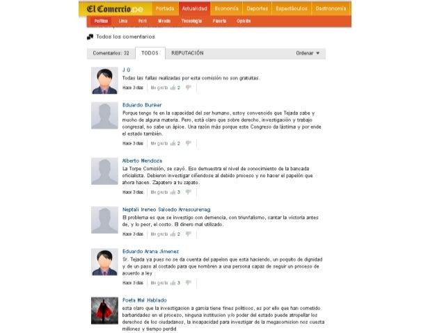 Megacomisión, Tejada y Alan García Sólo a Humala se le ocurre poner a un inexperto e incompetente al mando de una comisión...