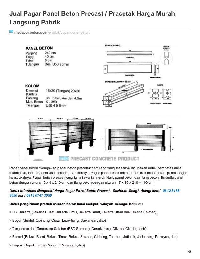 Jual Pagar Panel Beton Precast / Pracetak Harga Murah Langsung Pabrik megaconbeton.com/produk/pagar-panel-beton/ Pagar pan...