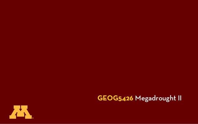 GEOG5426 Megadrought II