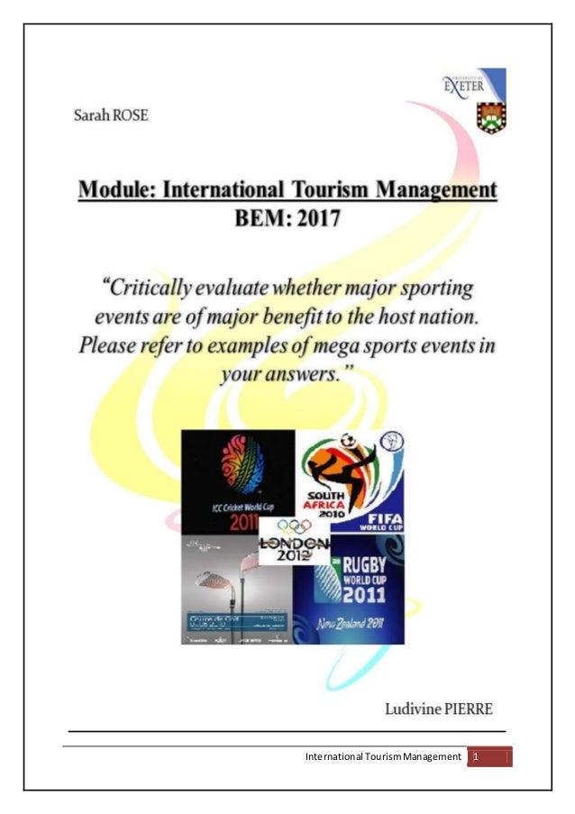 International TourismManagement 1