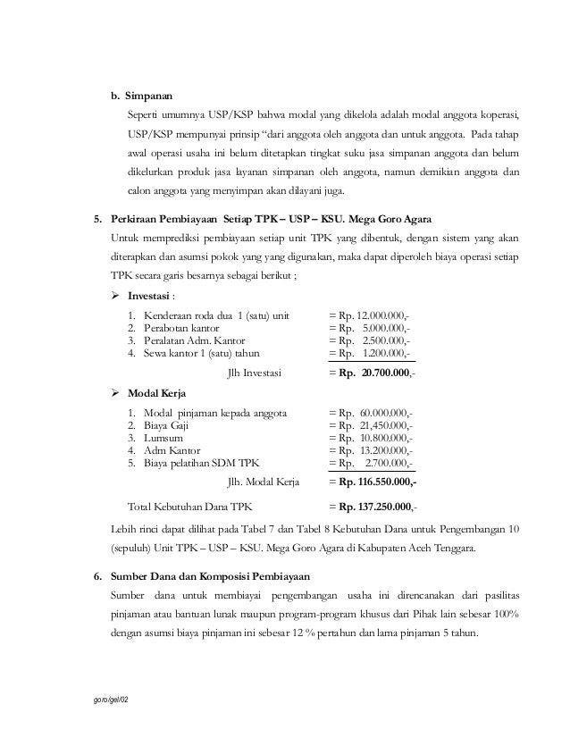 Contoh Proposal Permohonan Bantuan Dana Usaha Kecil Berbagi Contoh Proposal