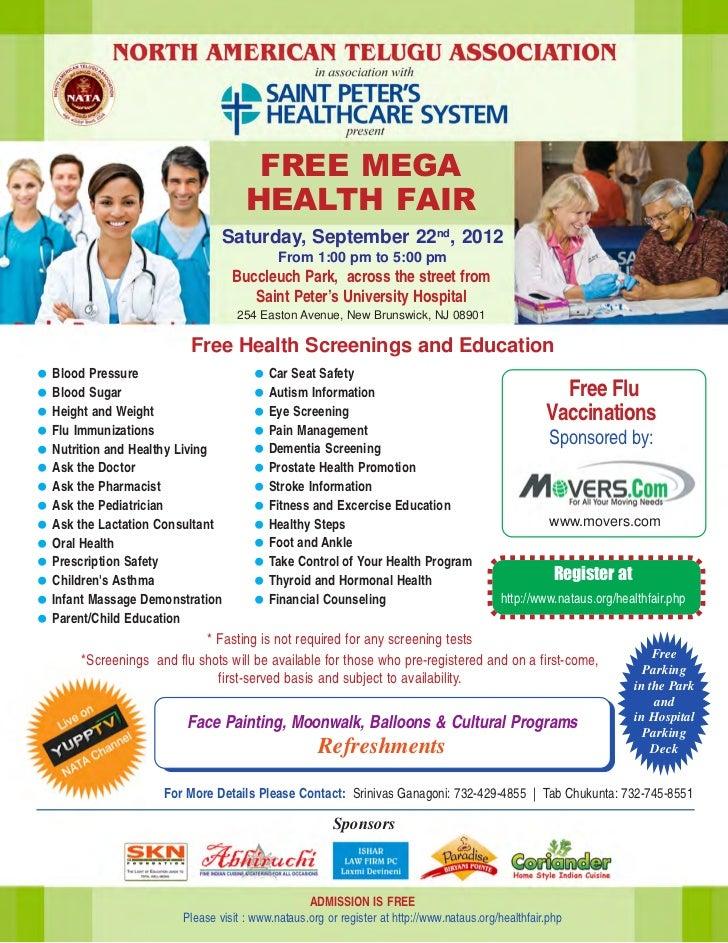 FREE MEGA                                   HEALTH FAIR                              Saturday, September 22nd, 2012       ...