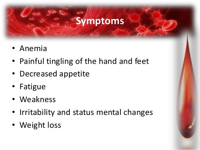 Megaloblastic anemia B12 Deficiency Symptoms