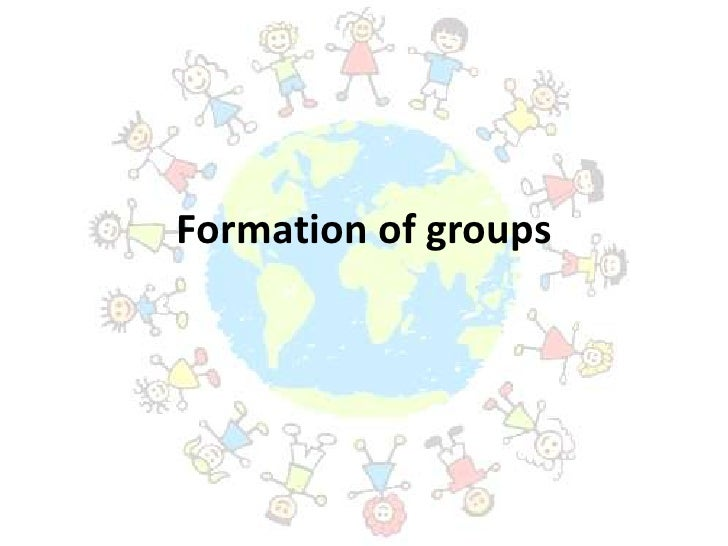 Formation of groups<br />