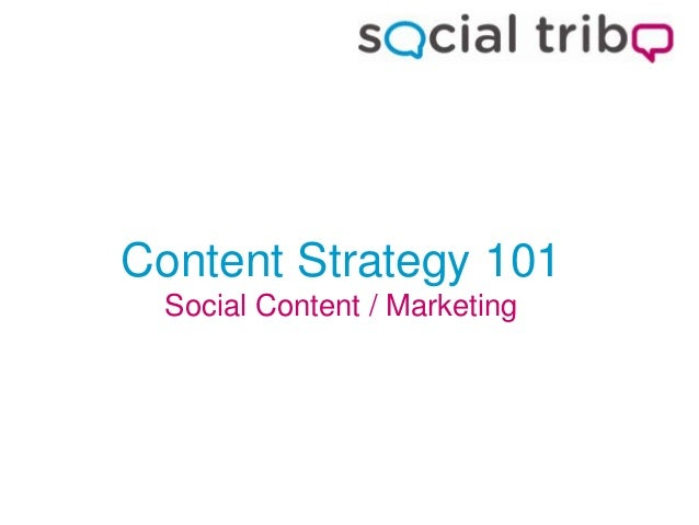 Content Strategy 101 Social Content / Marketing