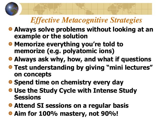 Five Examples of Metacognitive Teaching for Large Classes