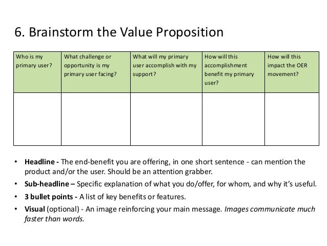 Present the Value Proposition