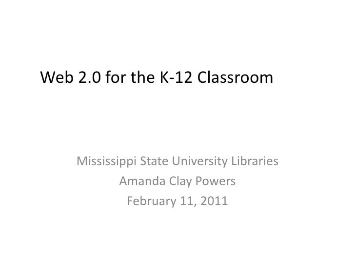 Web 2.0 for the K-12 Librarian<br />