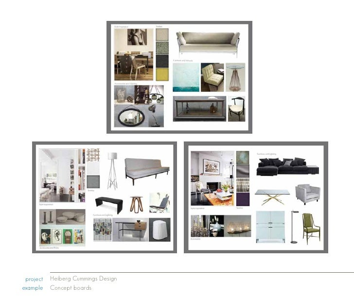 Heiberg Cummings Design Example Concept Boards