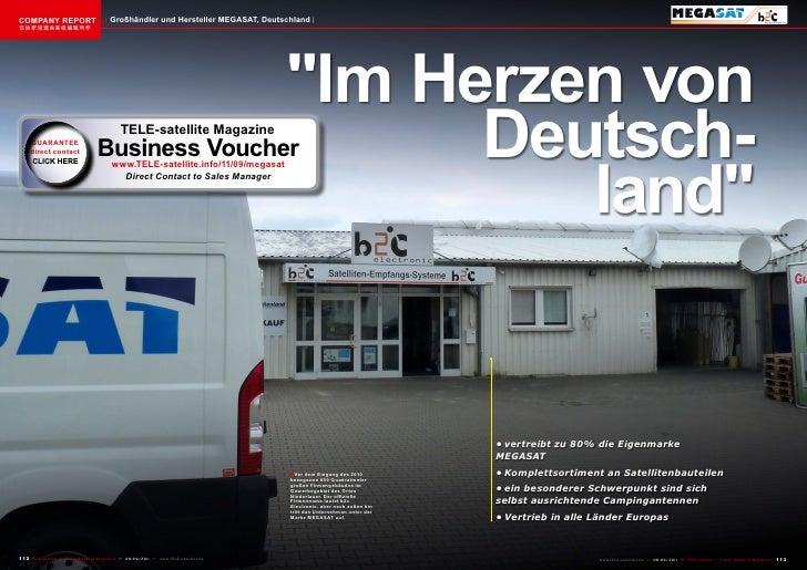 COMPANY REPORT                           Großhändler und Hersteller MEGASAT, Deutschland该独家报道由高级编辑所作                      ...