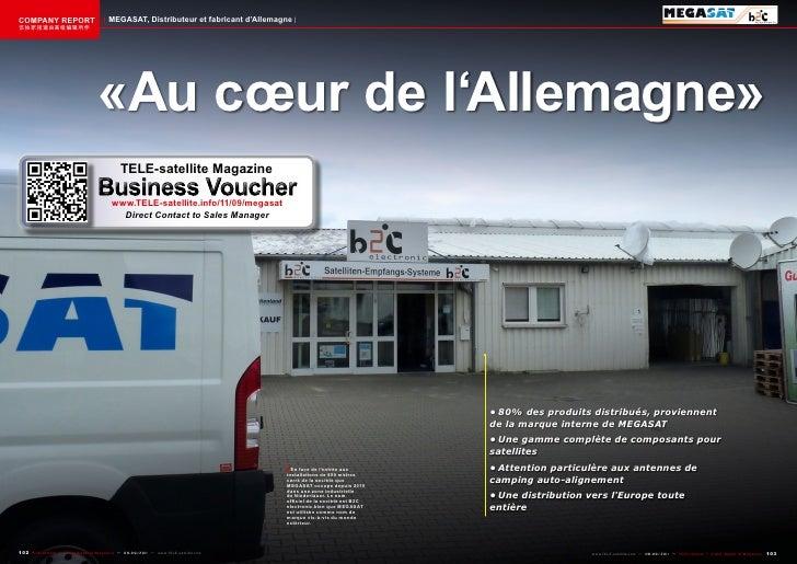 COMPANY REPORT                           MEGASAT, Distributeur et fabricant d'Allemagne该独家报道由高级编辑所作                       ...