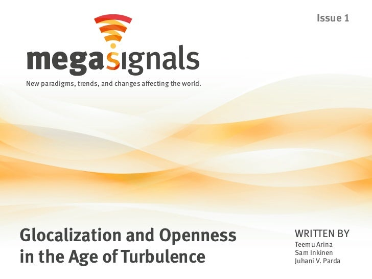 Issue 1New paradigms, trends, and changes affecting the world.Glocalization and Openness                                WR...