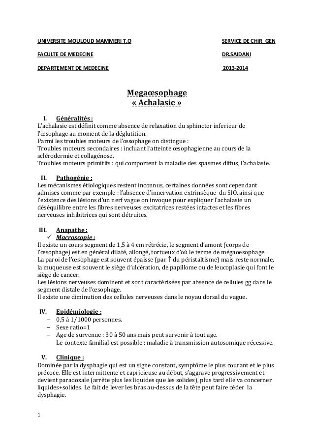 UNIVERSITE MOULOUD MAMMERI T.O  SERVICE DE CHIR_GEN  FACULTE DE MEDECINE  DR.SAIDANI  DEPARTEMENT DE MEDECINE  2013-2014  ...