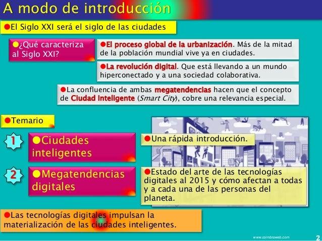 Megatendencias digitales que impulsan las ciudades inteligentes Slide 2
