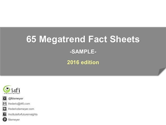 Megatrends Fact Sheets  V Sample Light