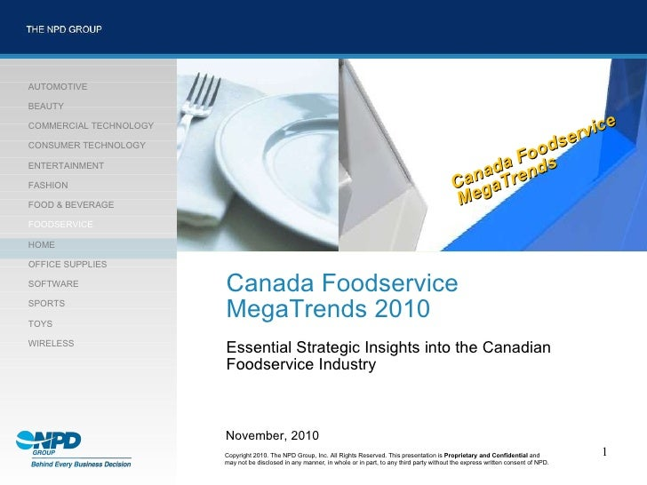 Canada Foodservice MegaTrends 2010 Essential Strategic Insights into the Canadian  Foodservice Industry http://corpdevnew/...