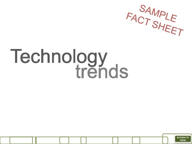 Megatrends fact sheets 2015 sample – Sample Fact Sheet
