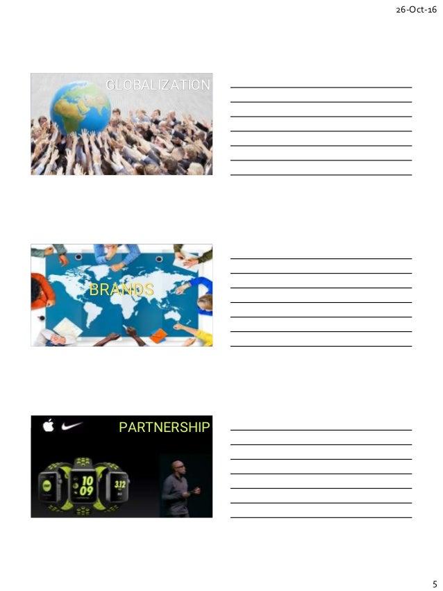 26-Oct-16 5 GLOBALIZATION BRANDS PARTNERSHIP