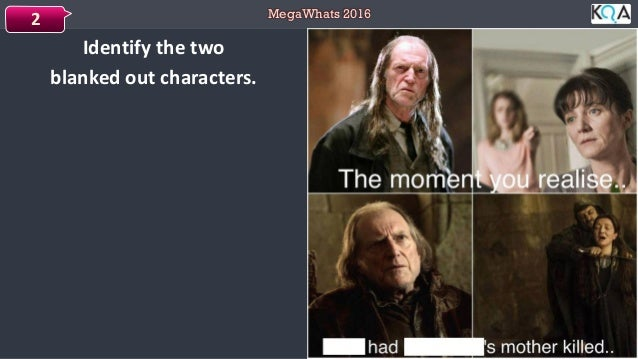MegaWhats 2016 Identify the two blanked out characters. 2