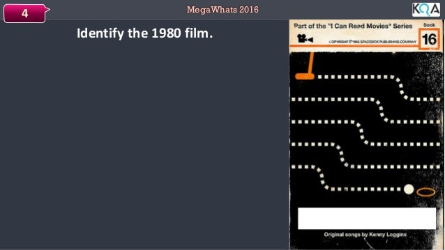 MegaWhats 2016 Identify the 1980 film. 4